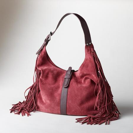 HEARTLAND FRINGED HOBO BAG