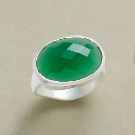 GREEN HARLEQUIN RING