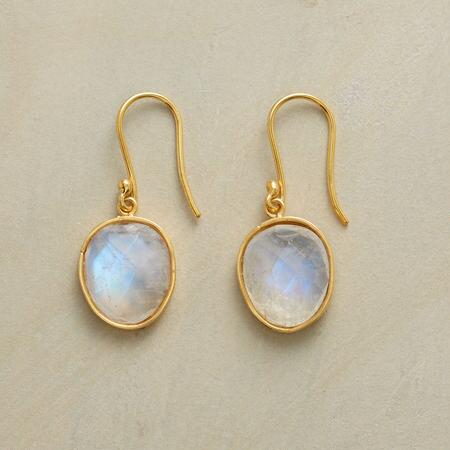 MOONSTONE IN THE MIDDLE EARRINGS