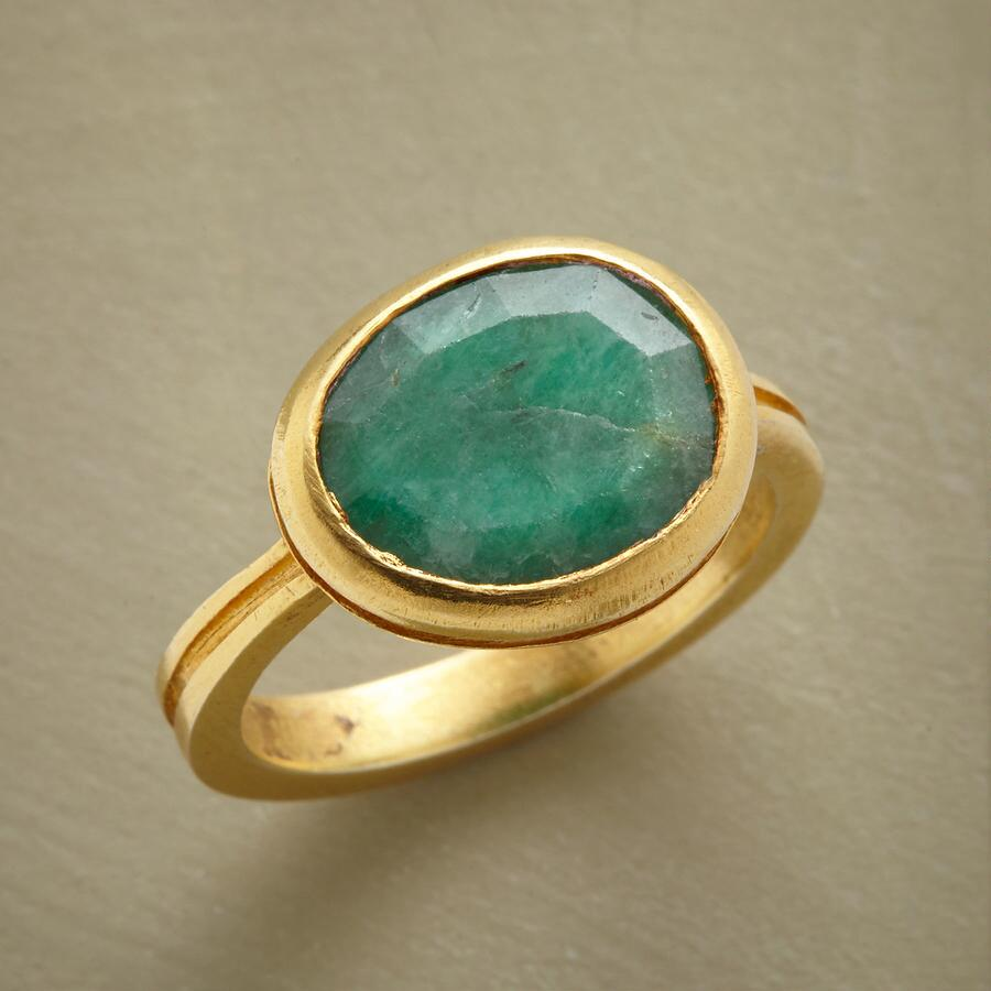 EMBRACED EMERALD RING