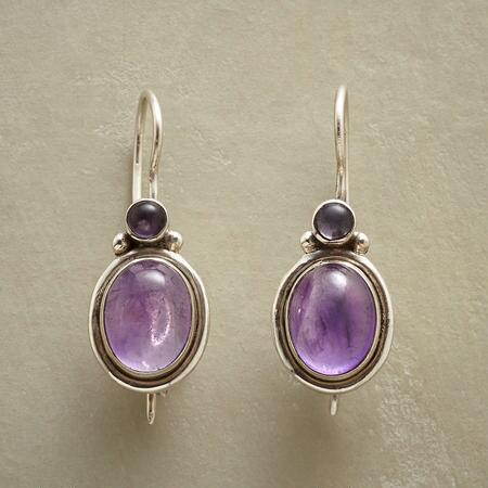 PURPLE SHINE EARRINGS