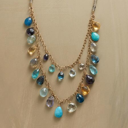 BLUEBOW NECKLACE