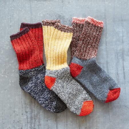 RAGG TIME SOCKS, SET OF 3
