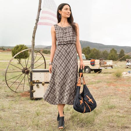 NORTH FORK PLAID DRESS