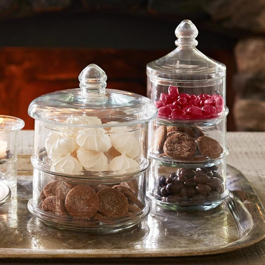 LUSTRE GLASS CANISTERS