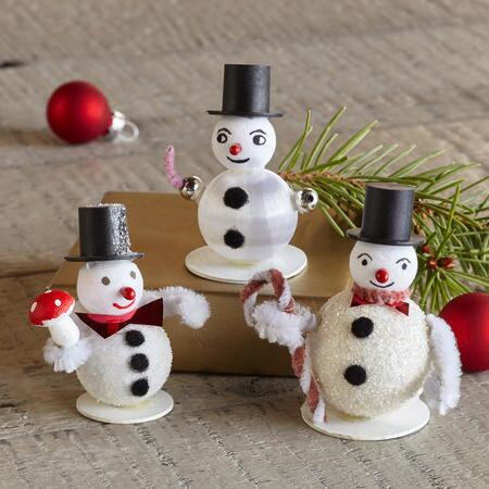 HAPPY SNOWMAN GIFT TOPPERS S/3