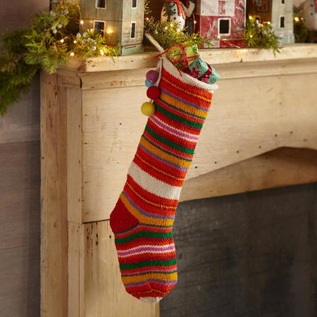 HEIRLOOM MULTI STRIPE STOCKING
