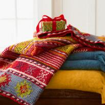 HEIRLOOM STOCKING THROW