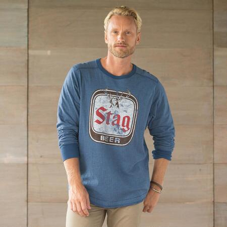 STAG BEER LONG-SLEEVE TEE