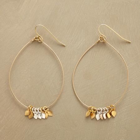 CHARMED TEARDROP HOOPS