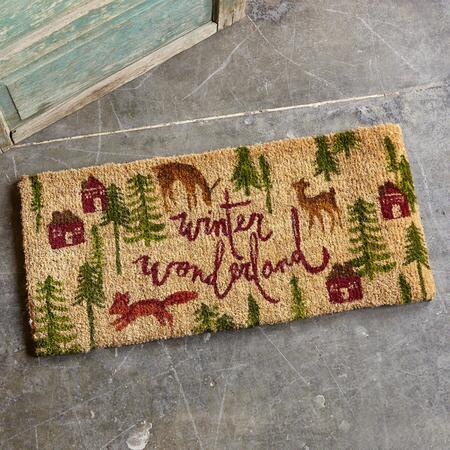 WINTER WONDERLAND DOOR MAT