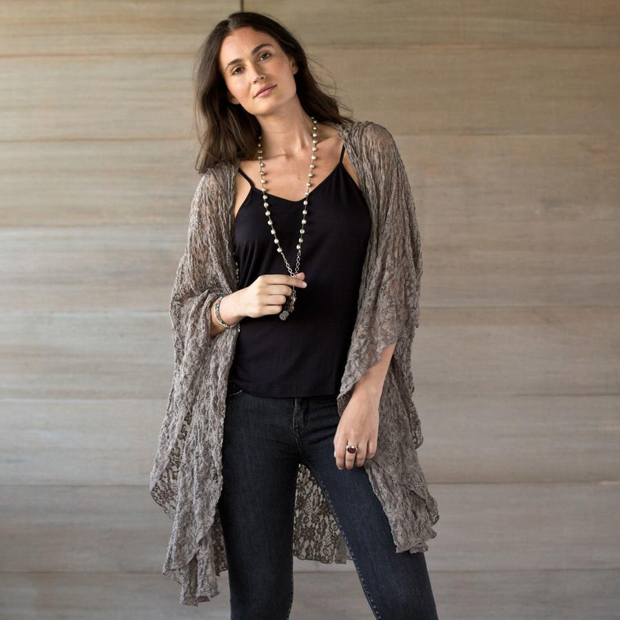 FLY AWAY HOODED LACE CARDIGAN