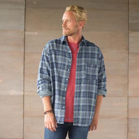 JACK BLUE PLAID SHIRT