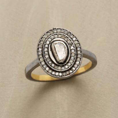 DIAMOND HOVERING GEMSTONE RING