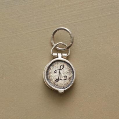 STERLING INITIAL LOCKET CHARM
