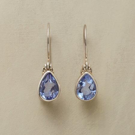 HINGED TO BLUE EARRINGS