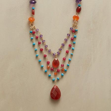 CARNELIAN AND COMPANY NECKLACE