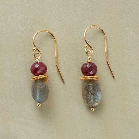 RUBIES AND RAINBOWS EARRINGS