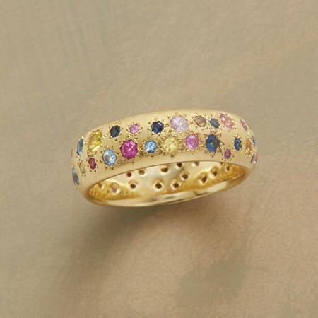 SAPPHIRE STARBURST RING