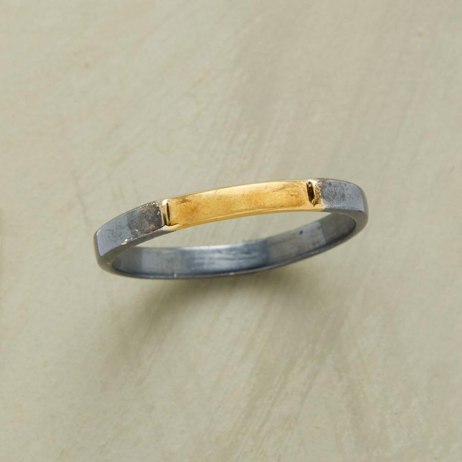 BLACK AND GOLDEN RING