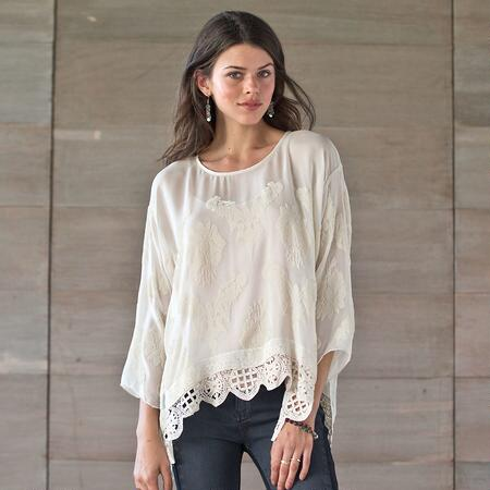 FOR LOVE AND LIBERTY BLOUSE WITH V