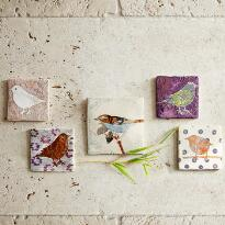 BIRDS OF A FEATHER TILES, SET OF 5