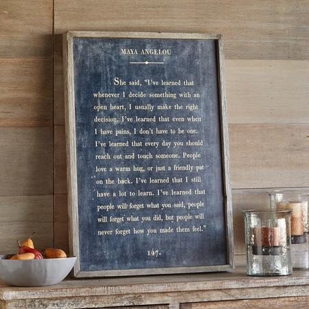WORDS OF WISDOM PRINT BY MAYA ANGELOU