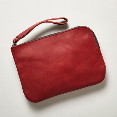 """HANDMADE LEATHER """"WHATEVER"""" POUCH"""