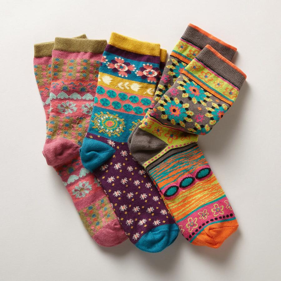 TIERRA DEL SOL SOCKS, SET OF 3
