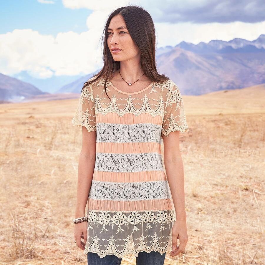 LACE IN BLOOM TUNIC