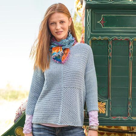 PATCHWORK STITCHES PULLOVER