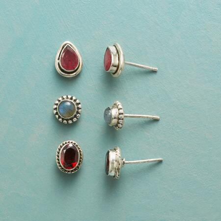 FINELY FRAMED EARRING TRIO