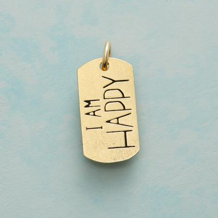 HAPPY SWEET SENTIMENT CHARM GOLD