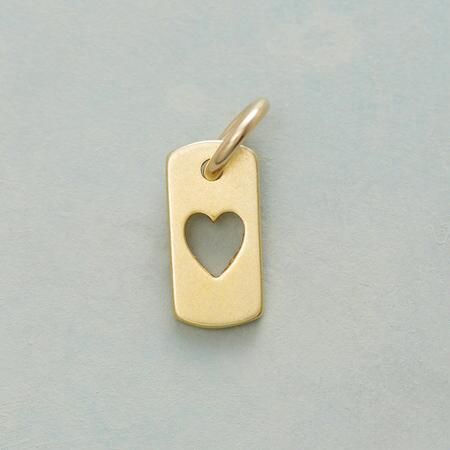 14KT GOLD DIPPED HEART CHARM