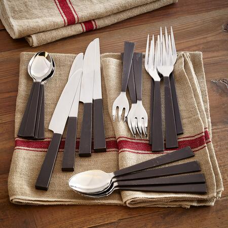 SOLILOQUY FLATWARE, 20-PIECE SET