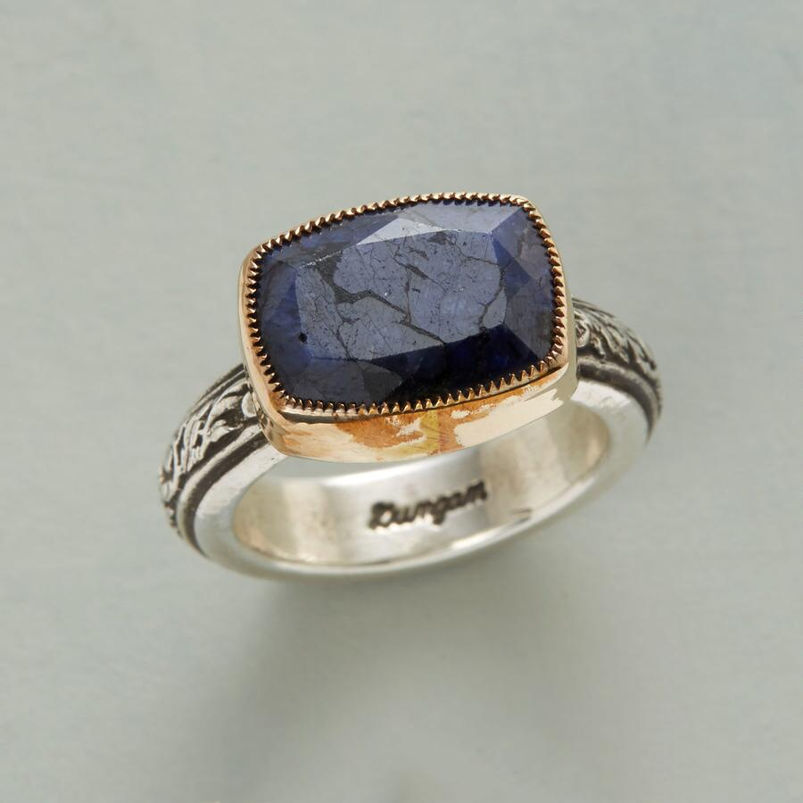 SCROLLED SAPPHIRE RING