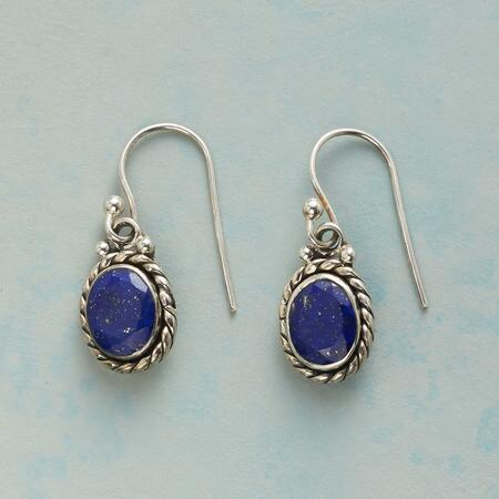 LASSOED LAPIS EARRINGS