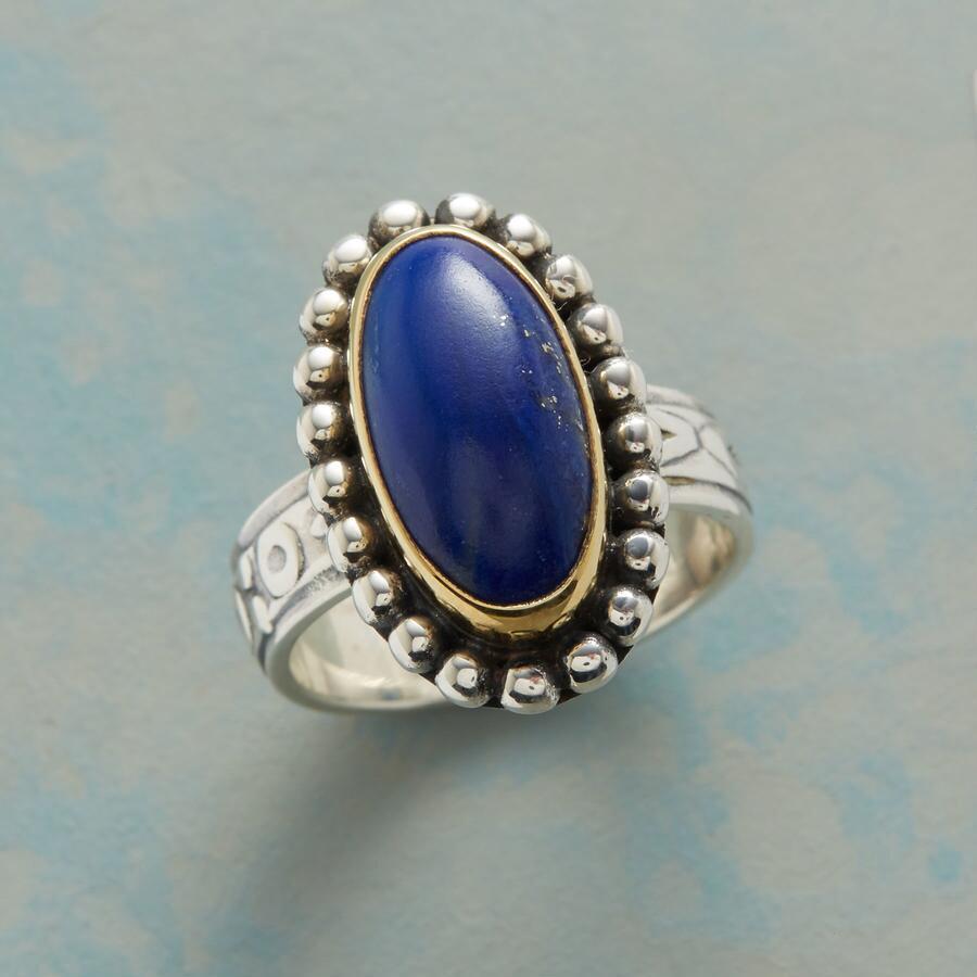 BLUE PORTRAIT RING
