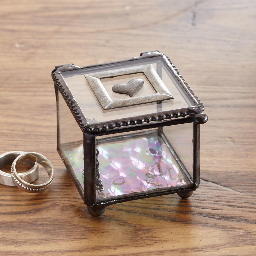 SMALL HAPPY HEART ART GLASS BOX