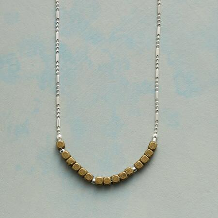 BRASS SECTION NECKLACE