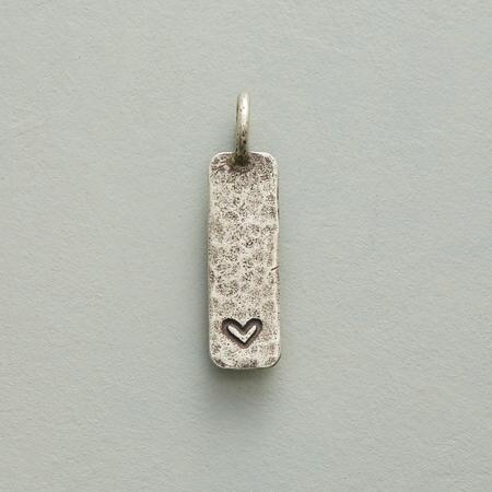 STERLING SILVER INSCRIBED HEART CHARM