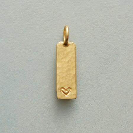 GOLD INSCRIBED HEART CHARM