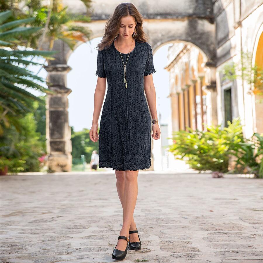 EYELET DELIGHT DRESS