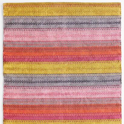 BOHEMIAN STRIPES WOVEN RUG, LARGE