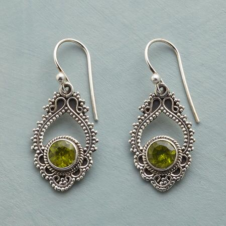 PERIDOT PAISLEY EARRINGS