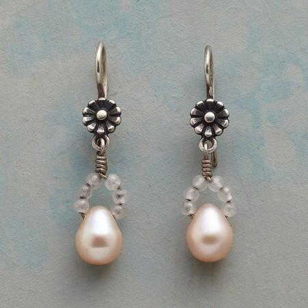 LADY SLIPPER PEARL EARRINGS