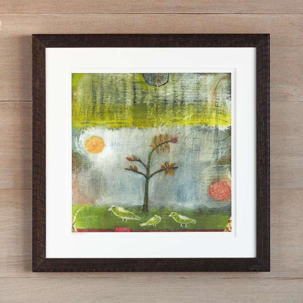 Co color art printing anchorage alaska - Birds Fog Encouraging Young Tree Print