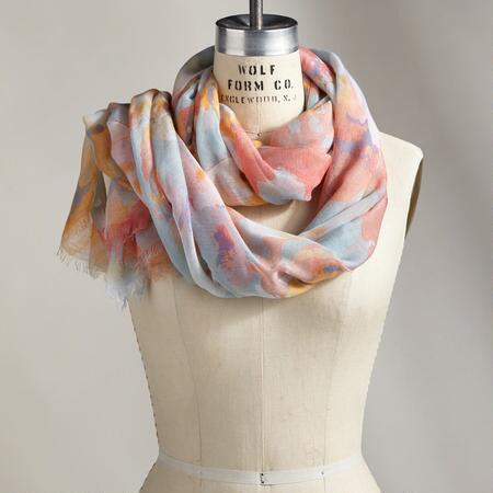 PALETTE OF BLOOMS SCARF