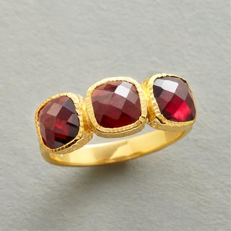 CROWN OF GARNETS RING