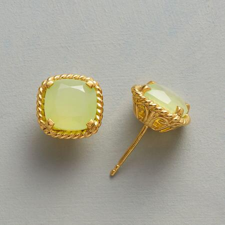 PREHNITE FILIGREE EARRINGS